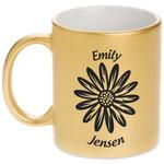 Daisies Gold Mug (Personalized)