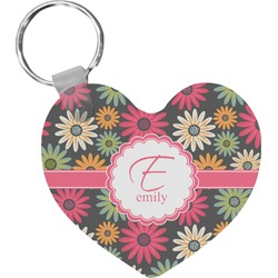 Daisies Heart Keychain (Personalized)