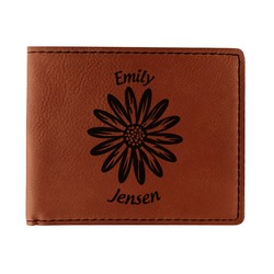 Daisies Leatherette Bifold Wallet (Personalized)