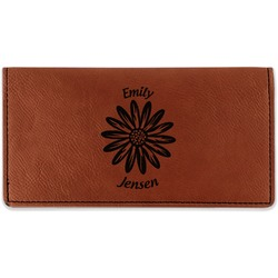 Daisies Leatherette Checkbook Holder (Personalized)
