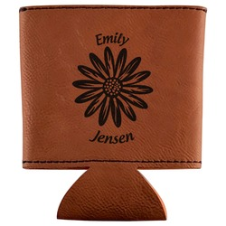 Daisies Leatherette Can Sleeve (Personalized)
