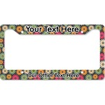 Daisies License Plate Frame - Style B (Personalized)