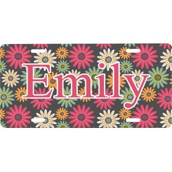 Daisies Front License Plate (Personalized)