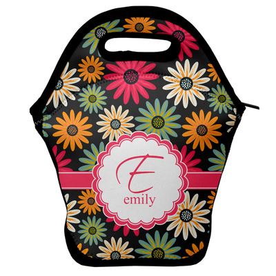 Daisies Lunch Bag w/ Name and Initial