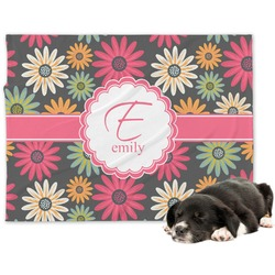 Daisies Minky Dog Blanket (Personalized)