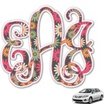 Daisies Monogram Car Decal (Personalized)
