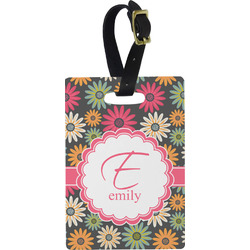 Daisies Rectangular Luggage Tag (Personalized)