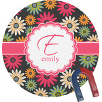 Daisies Round Magnet (Personalized)