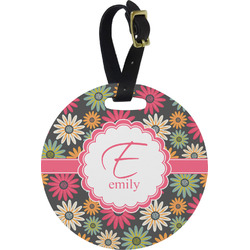 Daisies Round Luggage Tag (Personalized)