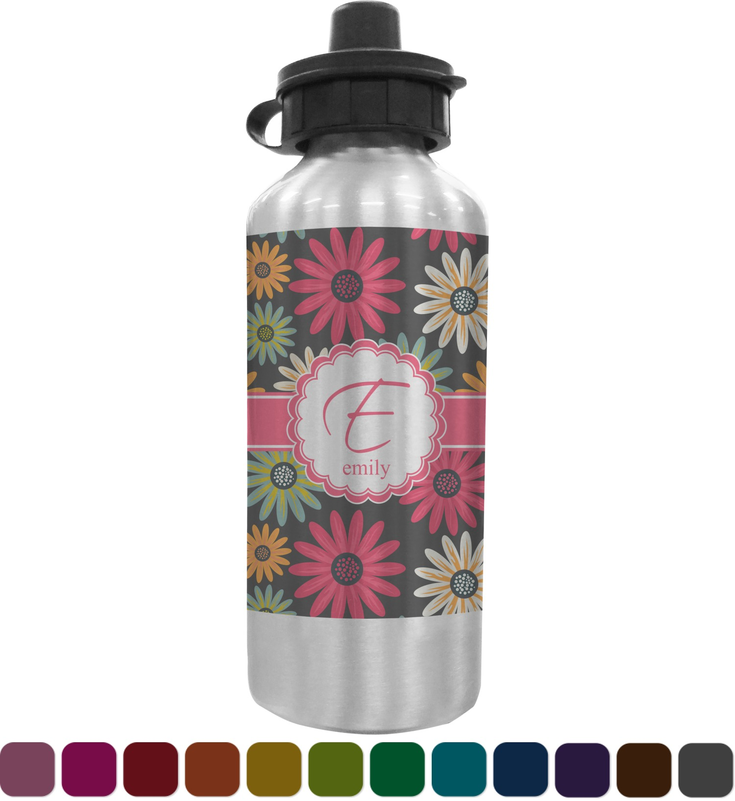 Daisies Water Bottle Personalized Youcustomizeit