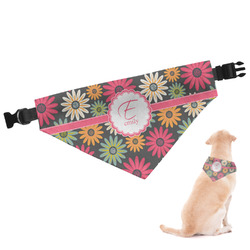 Daisies Dog Bandana - Large (Personalized)