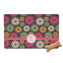 Daisies Pet Bowl Mat (Personalized)