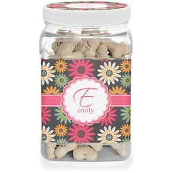 Daisies Pet Treat Jar (Personalized)