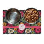 Daisies Dog Food Mat (Personalized)