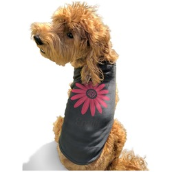 Daisies Black Pet Shirt - Multiple Sizes (Personalized)