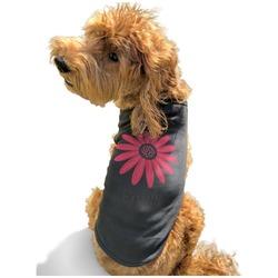 Daisies Black Pet Shirt - XL (Personalized)