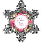 Daisies Vintage Snowflake Ornament (Personalized)