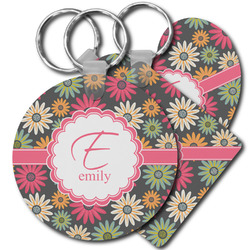 Daisies Plastic Keychains (Personalized)