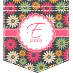 Daisies Iron On Faux Pocket (Personalized)