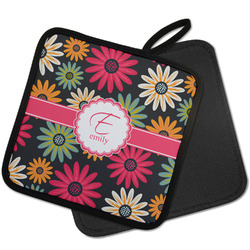 Daisies Pot Holder w/ Name and Initial