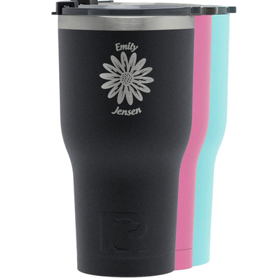 Daisies RTIC Tumbler - Black (Personalized)