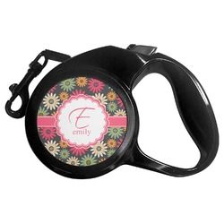 Daisies Retractable Dog Leash - Multiple Sizes (Personalized)