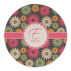 Daisies Round Linen Placemat (Personalized)