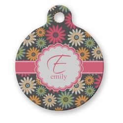 Daisies Round Pet Tag (Personalized)