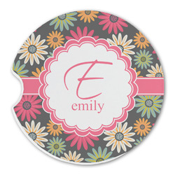 Daisies Sandstone Car Coasters (Personalized)