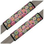 Daisies Seat Belt Covers (Set of 2) (Personalized)