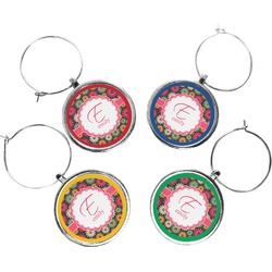 Daisies Wine Charms (Set of 4) (Personalized)