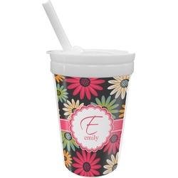 Daisies Sippy Cup with Straw (Personalized)