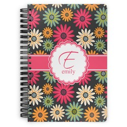 Daisies Spiral Bound Notebook (Personalized)