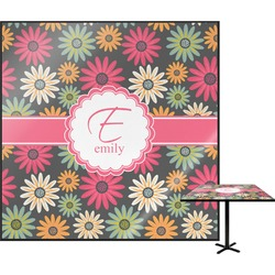 Daisies Square Table Top (Personalized)