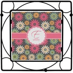 Daisies Square Trivet (Personalized)