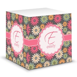 Daisies Sticky Note Cube (Personalized)