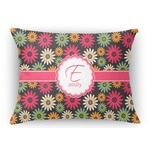 Daisies Rectangular Throw Pillow (Personalized)