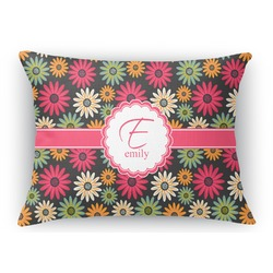 Daisies Rectangular Throw Pillow Case (Personalized)