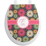 Daisies Toilet Seat Decal (Personalized)