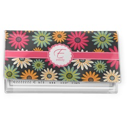 Daisies Vinyl Check Book Cover (Personalized)