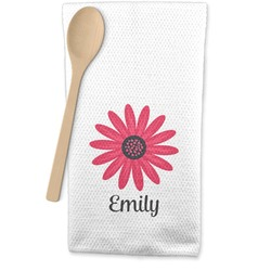 Daisies Waffle Weave Kitchen Towel (Personalized)
