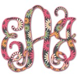 Daisies Monogram Decal - Custom Sized (Personalized)