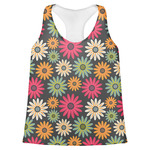 Daisies Womens Racerback Tank Top (Personalized)
