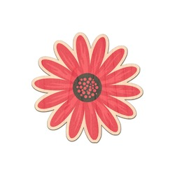 Daisies Genuine Maple or Cherry Wood Sticker (Personalized)