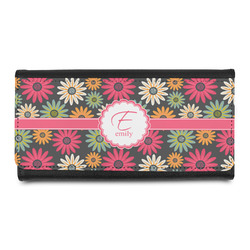 Daisies Leatherette Ladies Wallet (Personalized)