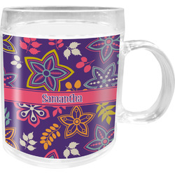 Simple Floral Acrylic Kids Mug (Personalized)