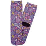 Simple Floral Adult Crew Socks (Personalized)