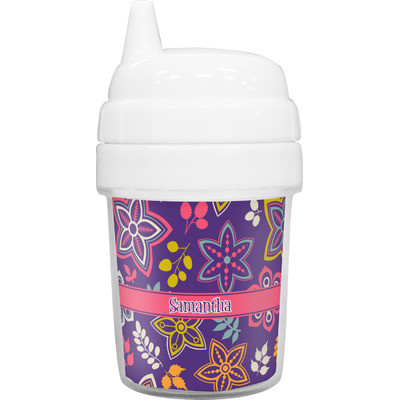 Simple Floral Baby Sippy Cup (Personalized)