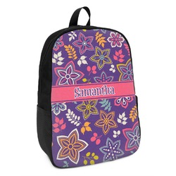Simple Floral Kids Backpack (Personalized)