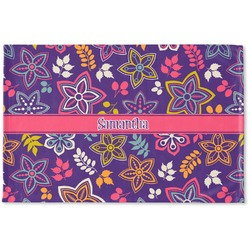 Simple Floral Woven Mat (Personalized)